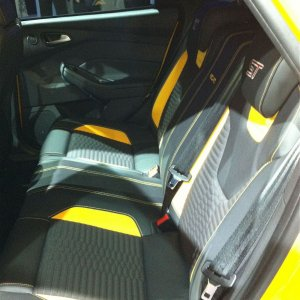 2012 ford focus ST rear seats