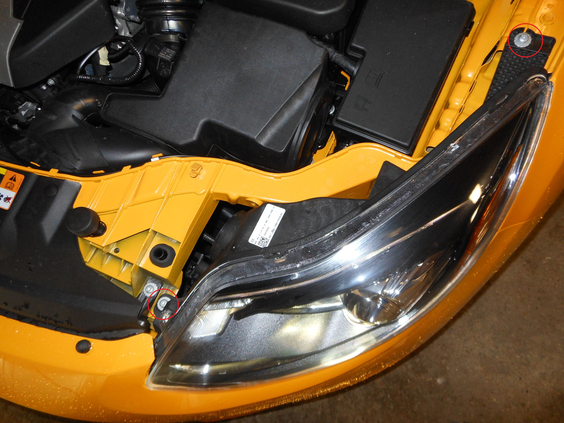 vw cc headlight removal